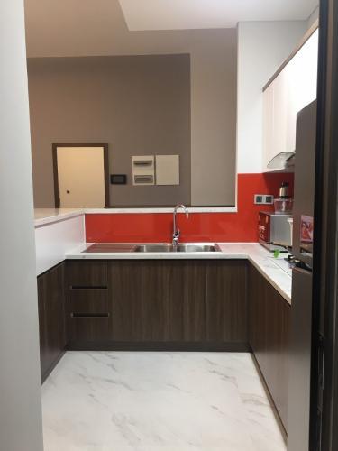 Bếp căn hộ PHÚ MỸ HƯNG MIDTOWN Cho thuê căn hộ Phú Mỹ Hưng Midtown 2PN, diện tích 89m2, đầy đủ nội thất, view toàn cảnh Phú Mỹ Hưng