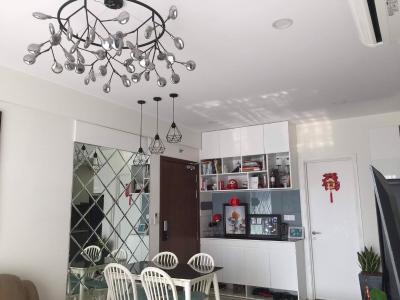 Bán căn hộ Masteri Millennium tầng trung, diện tích 74.91m2 - 2 phòng ngủ, nội thất cơ bản