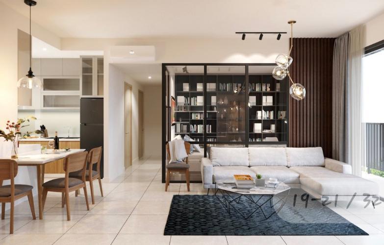 Phòng khách căn hộ The Sun Avenue Căn hộ The Sun Avenue tầng cao, đầy đủ nội thất, view Landmark.