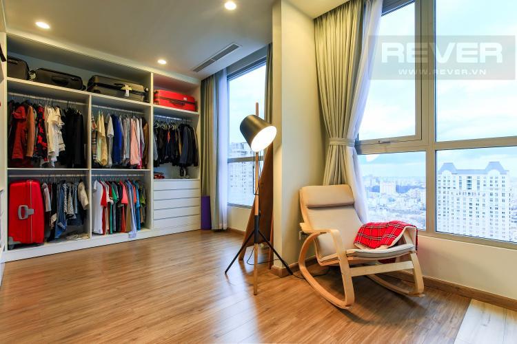 Phòng ngủ chính Căn góc Vinhomes Central Park tầng cao Central 3 view sông