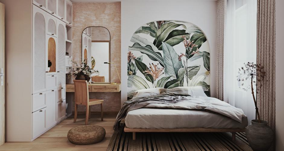 Phòng ngủ One Verandah  Căn hộ tầng 17 One Verandah, view thành phố và sông.