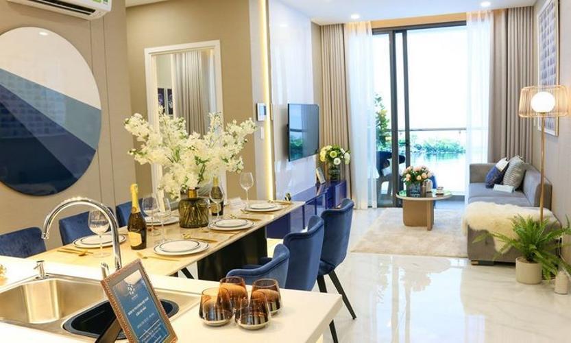 hình ảnh nhà mẫu căn hộ D'lusso quận 2 Căn hộ D'Lusso nội thất cơ bản, ban công thoáng mát đón gió.