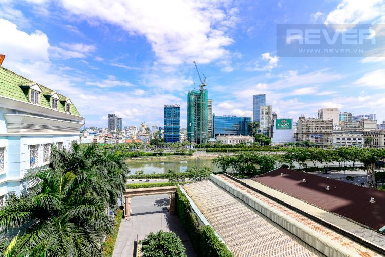 View Căn hộ Icon 56 tầng thấp, 2 phòng ngủ, full nội thất