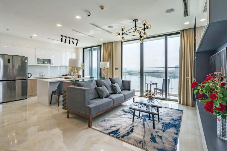 Cho thuê căn hộ Vinhomes Golden River 3PN, đầy đủ nội thất, căn góc, view sông và Bitexco