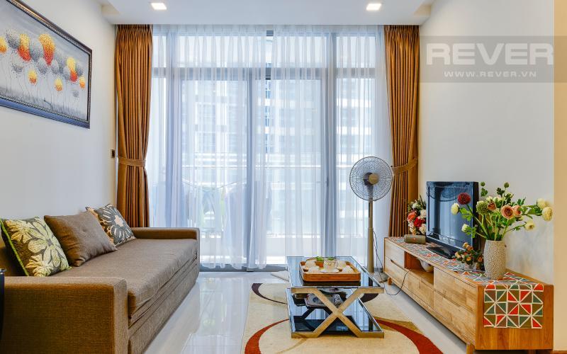 phòng khách Căn hộ Vinhomes Central Park tầng trung Park 1 thiết kế hiện đại