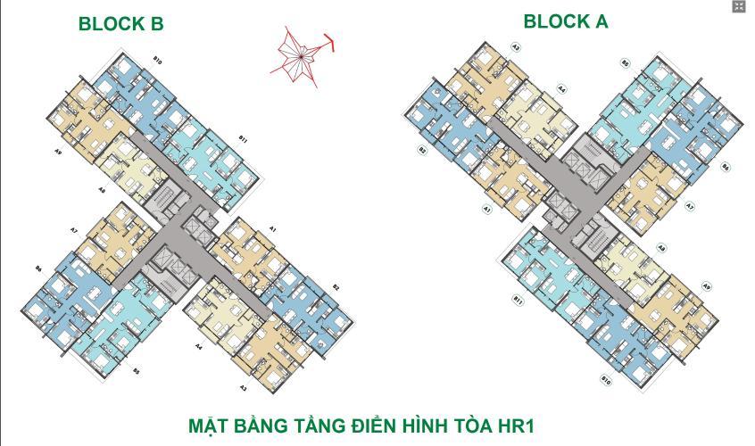 Mặt bằng tầng căn hộ Eco Green Saigon Cho thuê căn hộ Eco Green Saigon tầng cao, nội thất cơ bản.