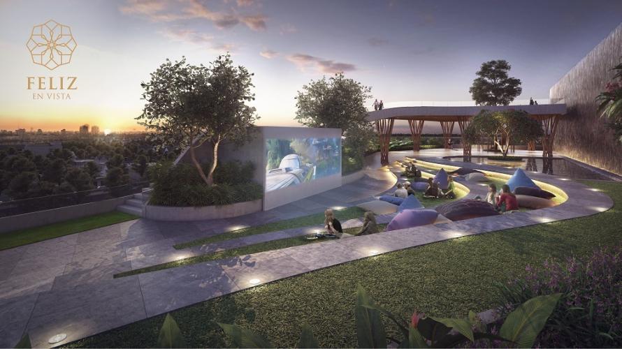 Feliz en Vista - Rạp chiếu phim ngoài trời dự án căn hộ Feliz En Vista