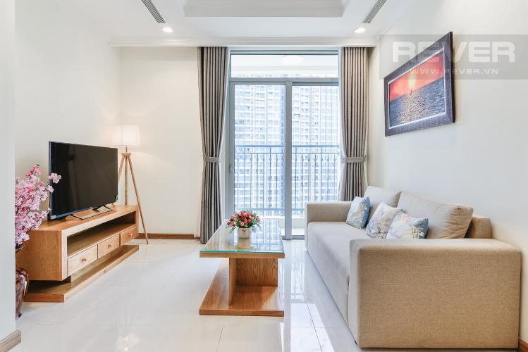 Phòng Khách Căn hộ Vinhomes Central Park 2 phòng ngủ tầng cao C3 view nội khu