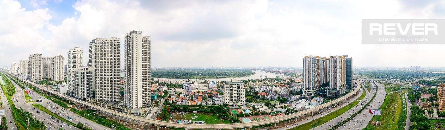 View Cho thuê căn hộ Estella Heights 3PN, tầng cao, đầy đủ nội thất, view Xa lộ Hà Nội