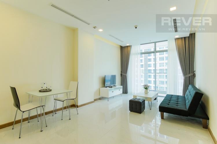 Phòng Khách Căn hộ Vinhomes Central Park tầng cao Park 5 nội thất đẹp, view sông