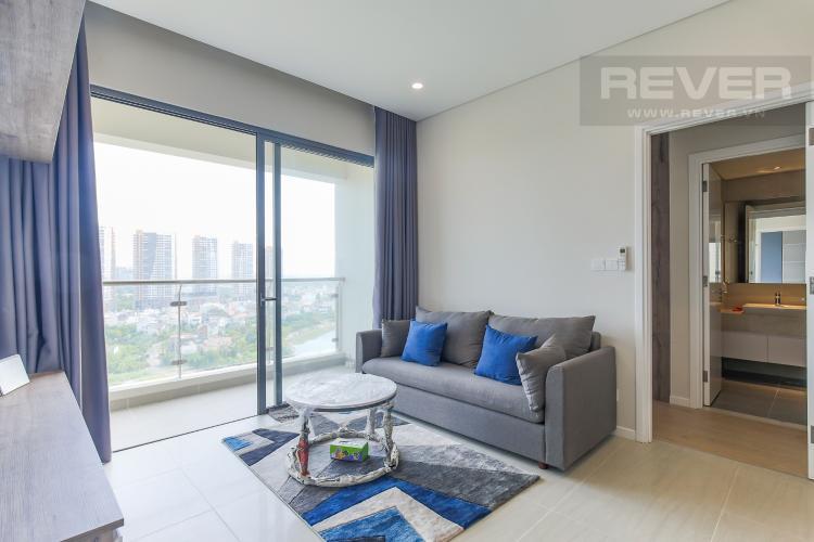 Phòng Khách Cho thuê căn hộ Đảo Kim Cương - Diamond Island 2PN, tháp Canary, đầy đủ nội thất, view sông thoáng mát