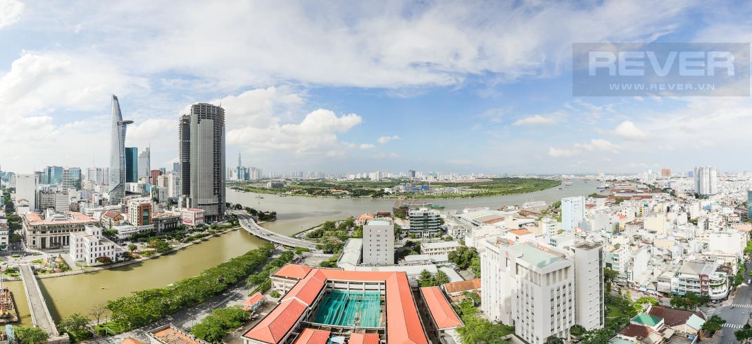 View Cho thuê căn hộ Saigon Royal 2PN, tầng cao, đầy đủ nội thất, view sông thoáng mát