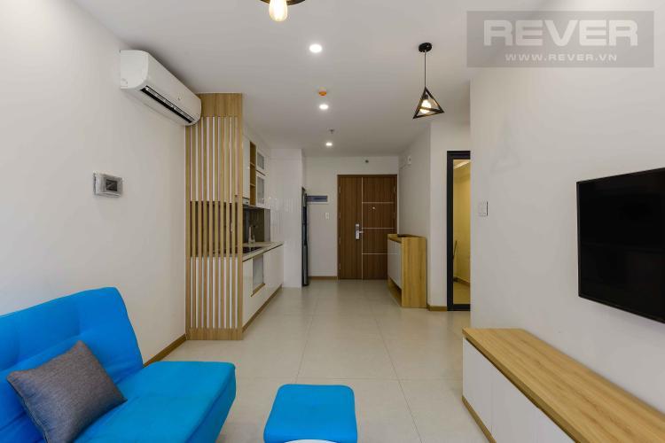 Phòng Khách Cho thuê căn hộ New City Thủ Thiêm 1PN, tháp Bali, tầng thấp, đầy đủ nội thất