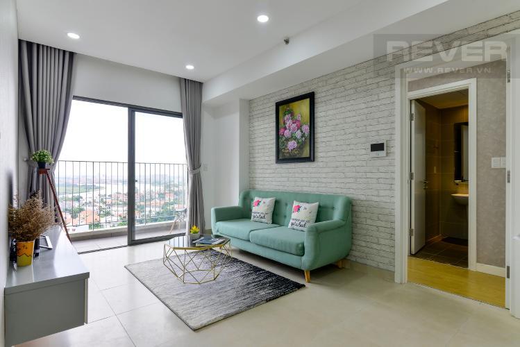 Phòng Khách Bán căn hộ Masteri Thảo Điền 2PN, đầy đủ nội thất, view sông thoáng mát