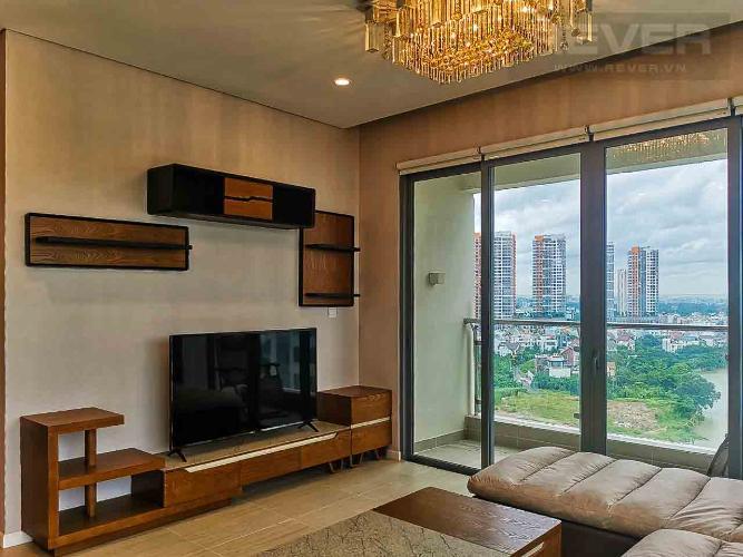 Phòng Khách Cho thuê căn hộ Diamond Island - Đảo Kim Cương 3PN, tháp Hawaii, đầy đủ nội thất, thiết kế đẹp mắt