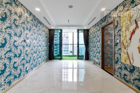Cho thuê căn hộ Vinhomes Central Park 2PN, tháp Landmark 81, nội thất cơ bản, là căn góc, view Xa lộ Hà Nội