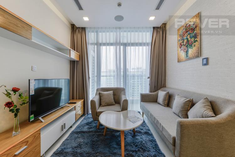 Phòng khách Căn hộ Vinhomes Central Park 2 phòng ngủ tầng cao P6 view Quận 1