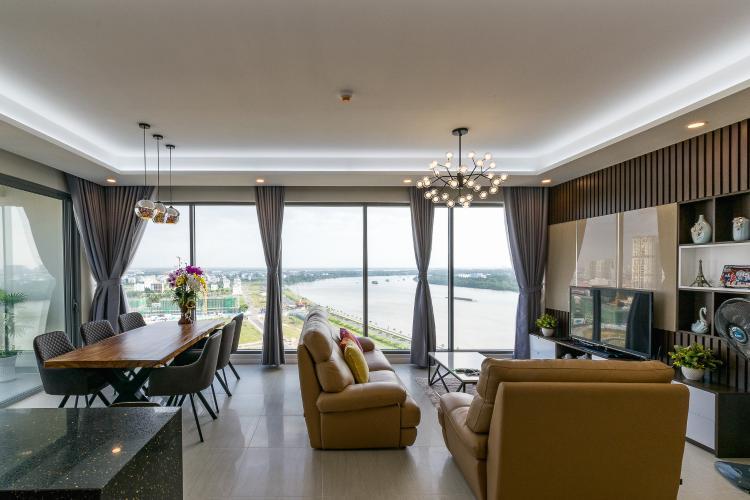 Căn hộ Diamond Island - Đảo Kim Cương tầng cao, 3PN, nội thất đầy đủ, view sông