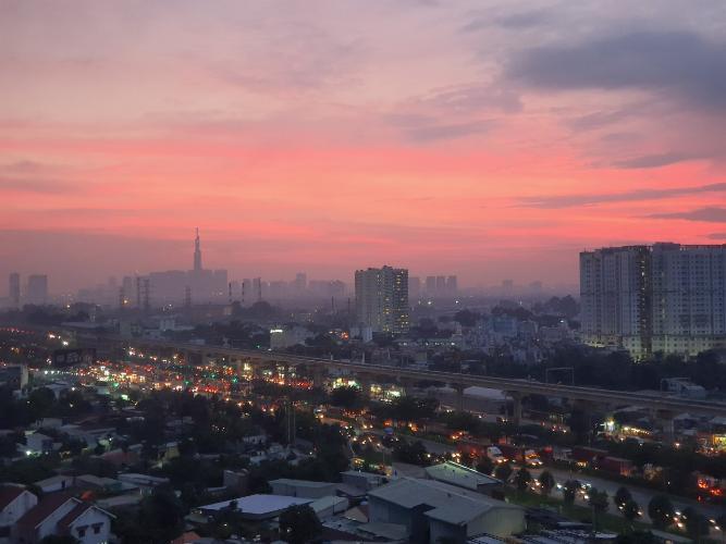 View căn hộ chung cư TDH Phước Long, Quận 9 Căn hộ chung cư TDH Phước Long tầng cao, view thành phố.