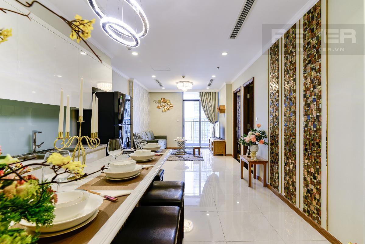 _DSC3971 Bán căn hộ Vinhomes Central Park 1PN, tháp Landmark 3, diện tích 54m2, đầy đủ nội thất, view sông