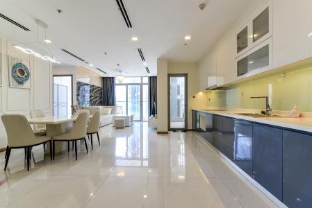 Cho thuê căn hộ Vinhomes Central Park 3PN, tháp Park 1, đầy đủ nội thất, hướng Tây Bắc