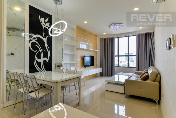 Phòng Khách Bán căn hộ Icon 56 3PN, tầng thấp, đầy đủ nội thất, view kênh Bến Nghé