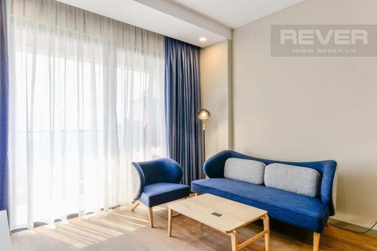 Phòng Khách Căn hộ The Gold View 2 phòng ngủ tầng thấp tháp B đầy đủ nội thất