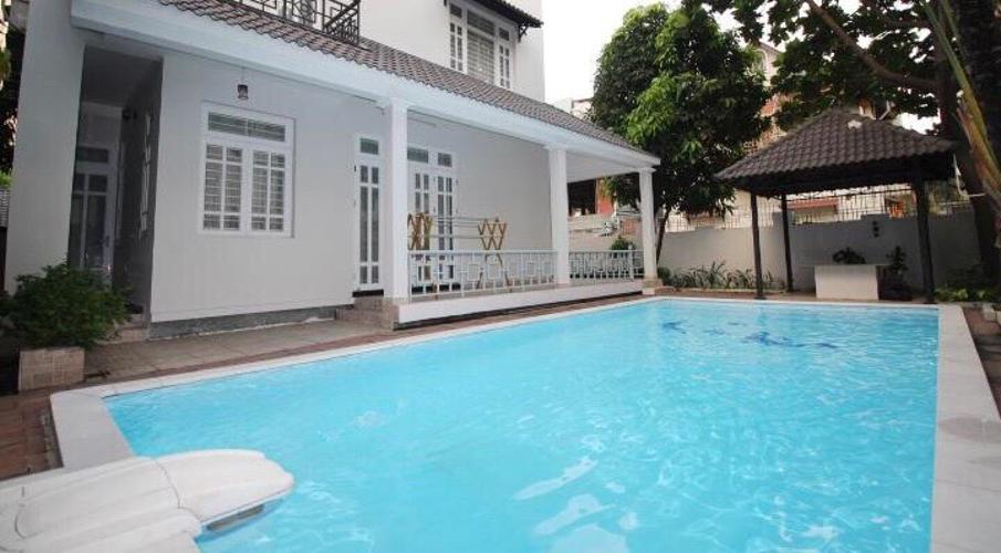 Hồ bơi Biệt thự Fideco Quận 2 Biệt thự Fedico Thảo Điền sân vườn rộng, hồ bơi đẹp.