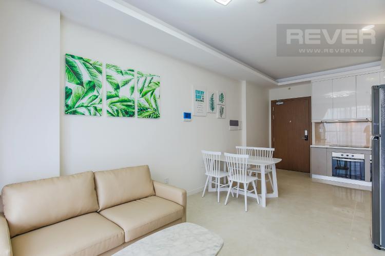 Phòng Khách Căn hộ Masteri Millennium tầng cao, 2PN đầy đủ nội thất, view sông đẹp