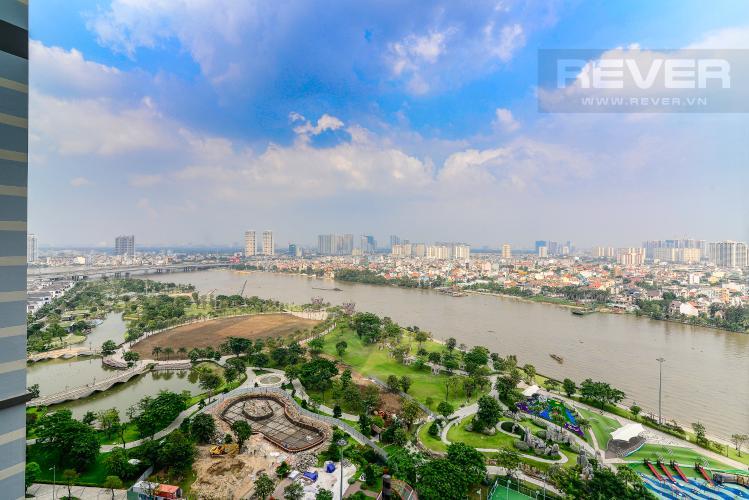 View Cho thuê căn hộ Vinhomes Central Park tầng cao 3PN nội thất đầy đủ, view sông