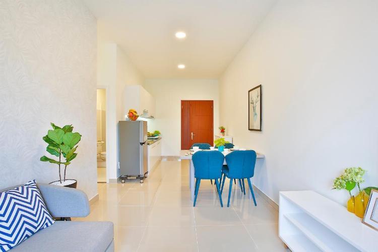 Căn hộ Topaz Home 2 tầng trung, bàn giao nội thất cơ bản.