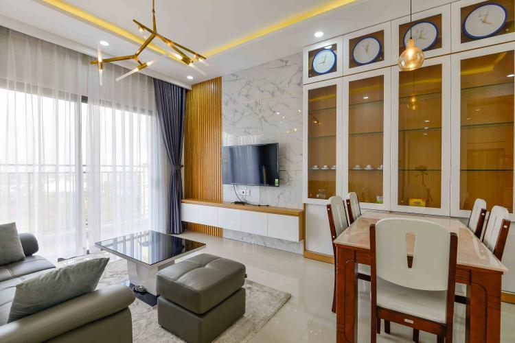Cho thuê căn góc The Sun Avenue 3PN tầng trung, đầy đủ nội thất, view cây xanh mát mẻ