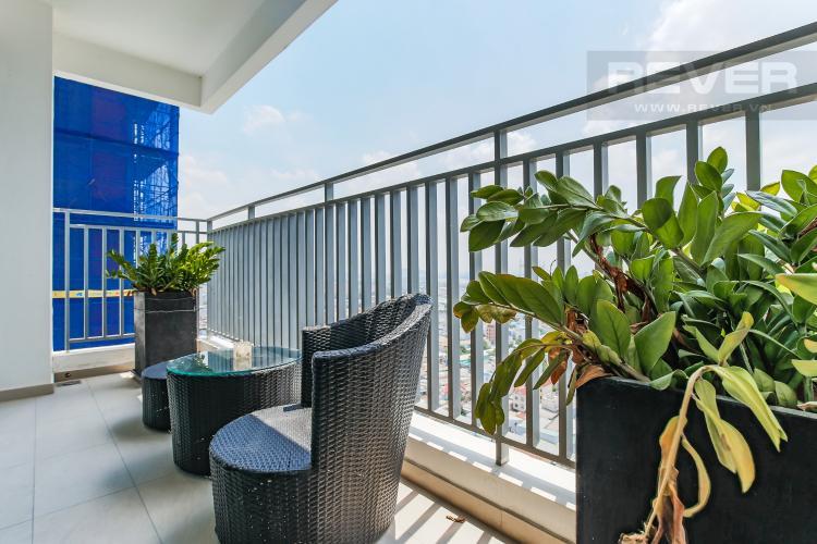 Balcony Căn hộ The View Riviera Point 2 phòng ngủ tầng cao T5 nội thất đầy đủ