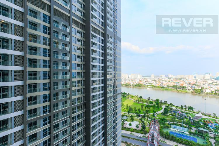 View Căn hộ Vinhomes Central Park tầng thấp Park 2, 3 phòng ngủ, view sông