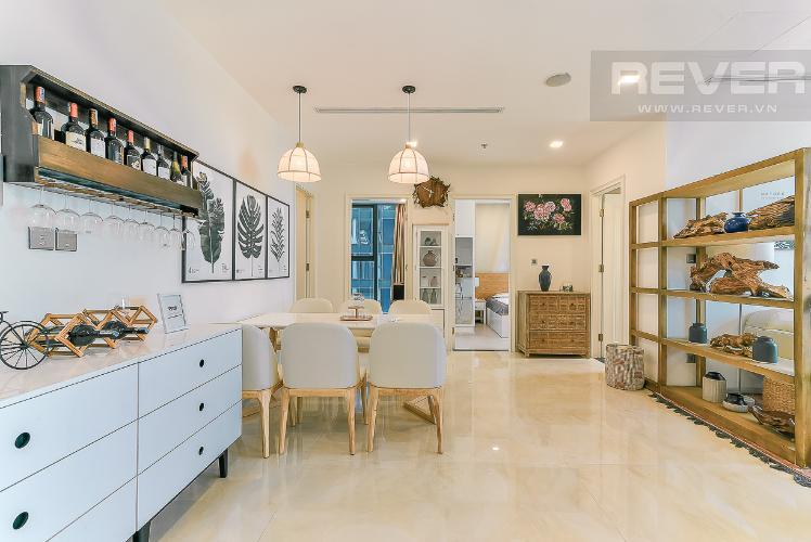 Phòng ăn và bếp căn hộ VINHOMES GOLDEN RIVER Bán căn hộ Vinhomes Golden River 3PN, tầng 6, đầy đủ nội thất, view sông rộng thoáng