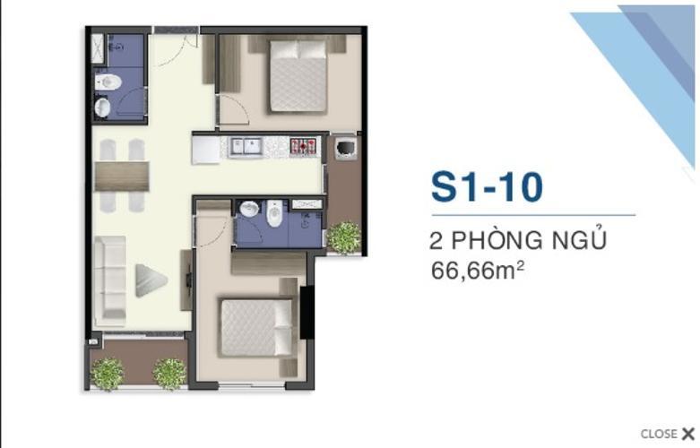 Mặt bằng nội thất Q7 Saigon Riverside Căn hộ Q7 Saigon Riverside ban công hướng Nam, nội thất cơ bản