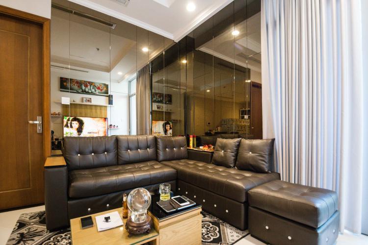 Phòng Khách Bán căn hộ Vinhomes Central Park 2 phòng ngủ tầng thấp tháp C2, đầy đủ nội thất cao cấp