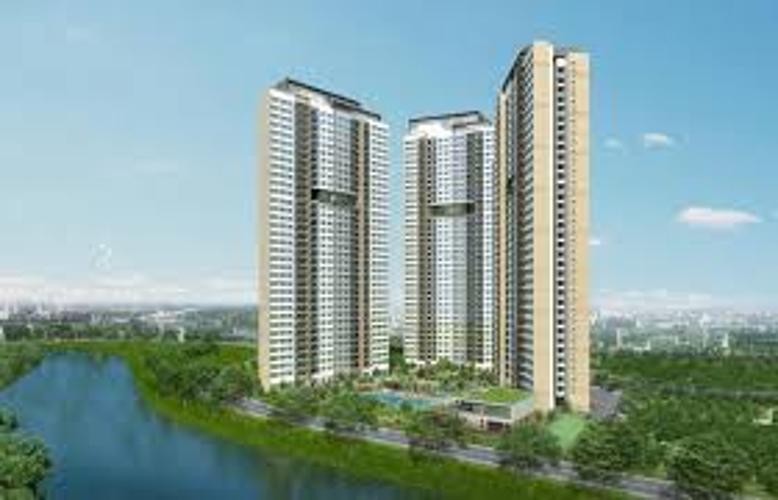 dự án Palm Heights Căn hộ Palm Heights tầng cao, view thành phố.