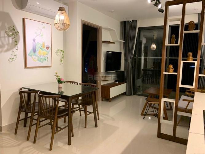 Phòng khách , Căn hộ Vinhomes Grand Park , Quận 9 Căn hộ Vinhomes Grand Park tầng cao đón view thoáng mát, đầy đủ nội thất.