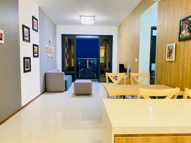 Phòng khách One Verandah Quận 2 Căn hộ tầng trung One Verandah view thành phố, nội thất đầy đủ