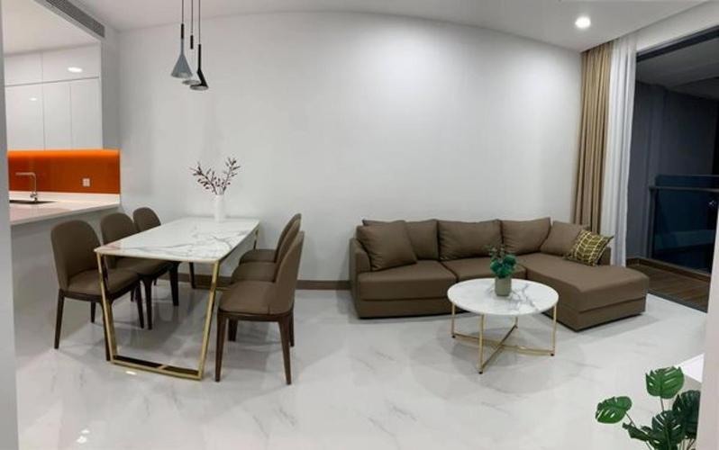 Phòng khách Sunwah Pearl, Bình Thạnh Căn hộ Sunwah Pearl tầng trung, hướng Tây Nam.