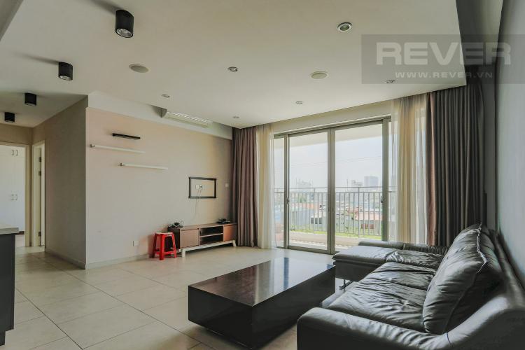 Phòng Khách Căn hộ The View Riviera Point tầng thấp, 96m2, 2 phòng ngủ, full nội thất