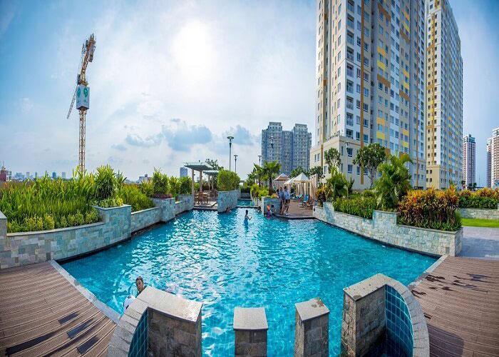 Hồ bơi Tropic Garden, Quận 2 Căn hộ Tropic Garden tầng cao, view thoáng mát.