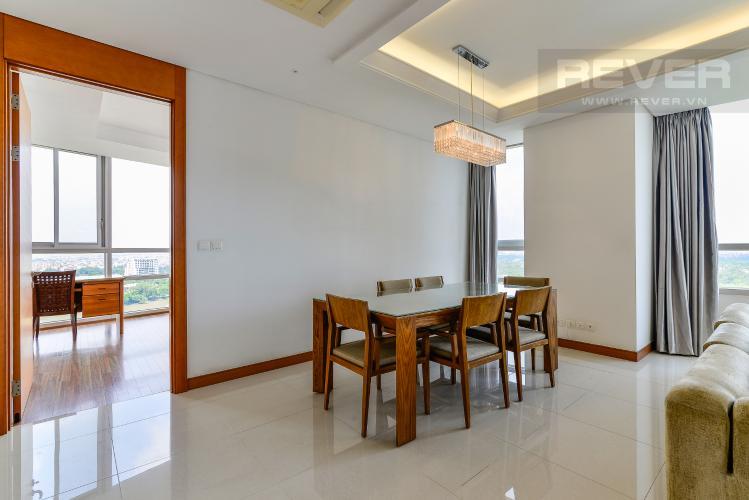 Phòng Ăn Cho thuê căn hộ Xi Riverview Palace tầng cao, 3PN, đầy đủ nội thất, view sông