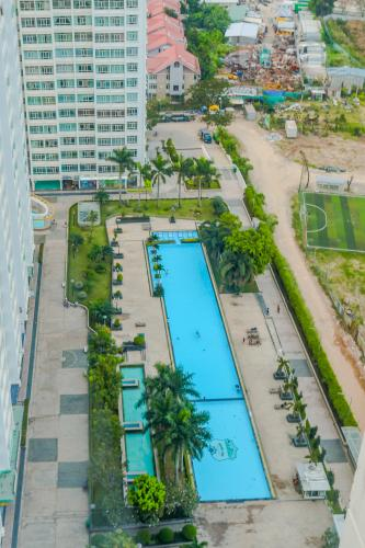View Hồ Bơi Căn hộ Phú Hoàng Anh 4PN có tầng lửng, đầy đủ nội thất