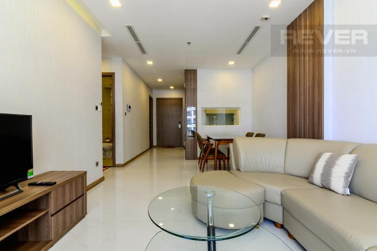 Phòng Khách Cho thuê căn hộ Vinhomes Central Park 2PN 2WC, đầy đủ nội thất, view sông