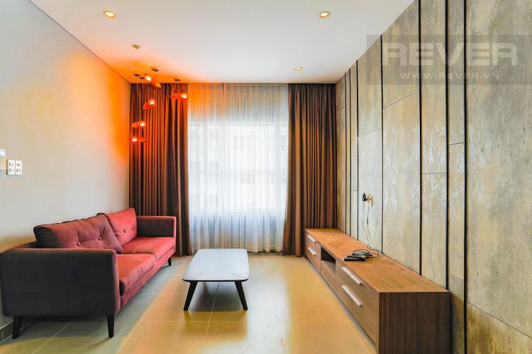 Phòng Khách Căn hộ Sunrise City 2 phòng ngủ tầng cao W2 view hồ bơi