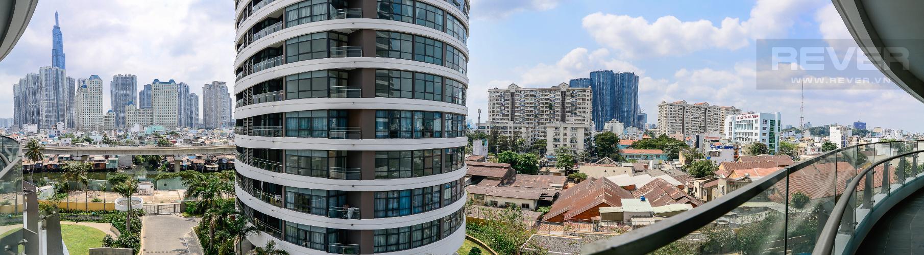 View Cho thuê căn hộ City Garden view thành phố, 104m2 2PN 2WC, nội thất tiện nghi