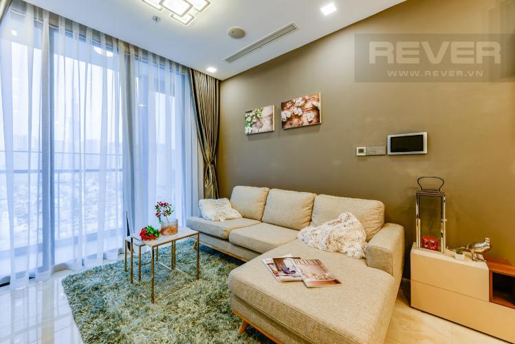 Phòng khách Bán và cho thuê căn hộ Vinhomes Golden River 1PN đầy đủ nội thất view sông