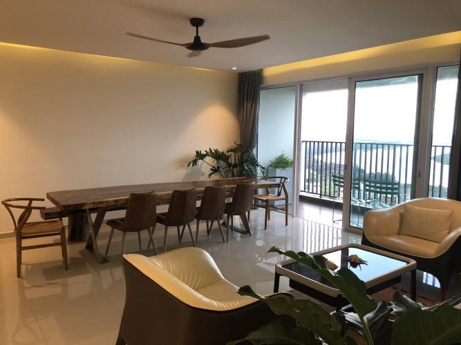 Phòng khách căn hộ VISTA VERDE Bán căn hộ Vista Verde 4PN, diện tích sàn 213m2, đầy đủ nội thất, view trực diện sông Sài Gòn